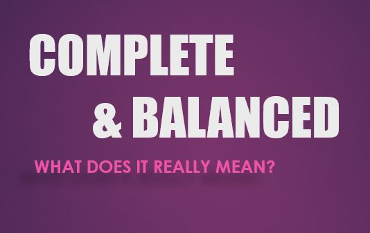 What does Complete and Balanced really mean